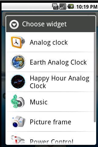 Planet Earth Clock Widget