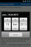 Screenshot of Bible Calendar PL