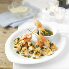 Griddled Langoustines With Hazelnut Butter