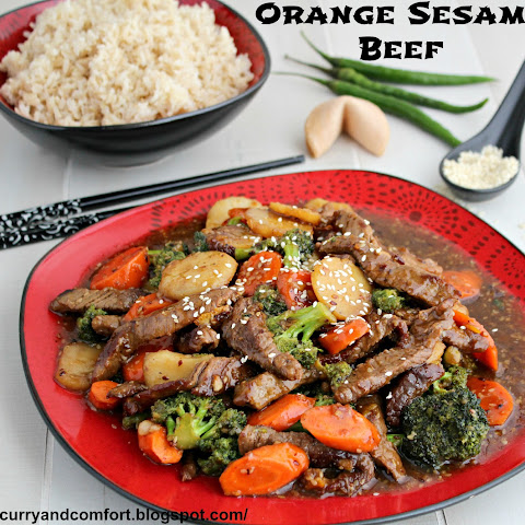 Sesame Orange Beef Stir Fry