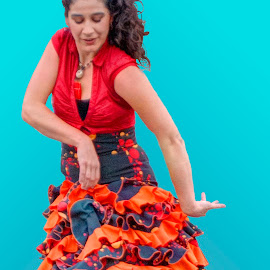 Alba Flamenca (Dancer #96) by Robert Wake - People Musicians & Entertainers ( flamenco, female, festival, professional, dancer, spain )