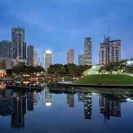 KLCC Lake by Kelvin Ng - City,  Street & Park  City Parks
