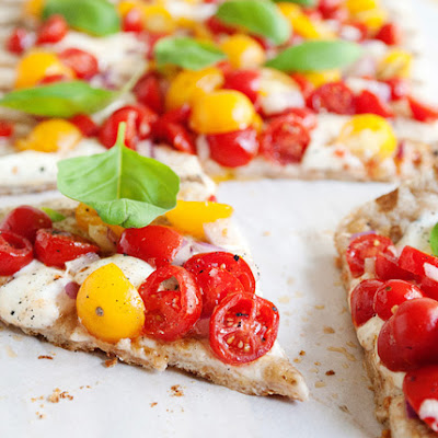 Grilled Bruschetta Pizza