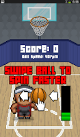 Screenshot of Basketball Spin