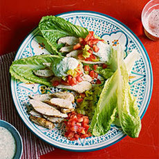 Lettuce Wrap Gyros with Chicken and Green Tzatziki