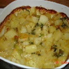 Potatoes au Gratin with Brie and Chives