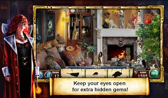 Screenshot of Hidden Object Haunted Gallery