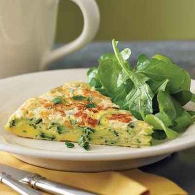 Frittata with Zucchini & Goat Cheese