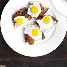 Vegetable Stew On Toast With Quail's Egg