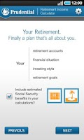 Screenshot of Retirement Income Calculator