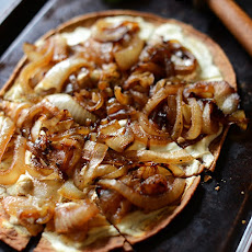 Goat Cheese & Caramelized Onion Pizza