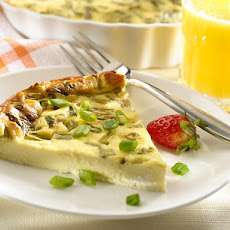 Crustless Quiche With Goat Cheese & Scallions