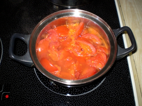 Troškinami pomidorai