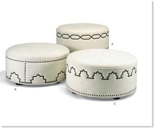Tangier hassock michaelbermanlimited  ottomans
