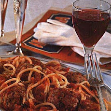 Spaghetti with Sicilian Meatballs
