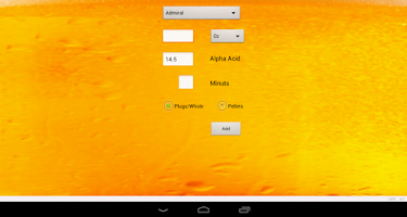 Screenshot of IBU Calculator Pro