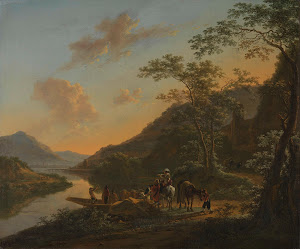 RIJKS: Jan Both: Italian Landscape with Ferry 1652