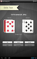 Screenshot of Blackjack Strategy Trainer