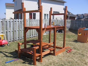 play structure with floor