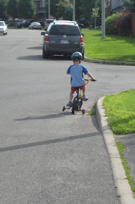 BigE riding his bike