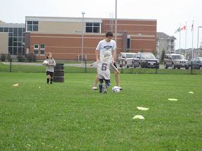 BigE working the soccer ball