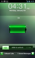 Screenshot of Go Locker Green Lockerscreen