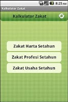 Screenshot of Kalkulator Zakat