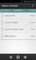 Screenshot of Radios de España (Spain)