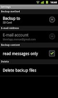 Screenshot of SMS Backup