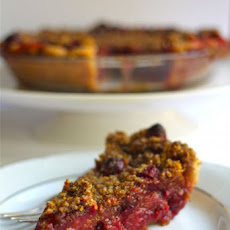 Cranberry-Orange Pie with Cornmeal Streusel Topping