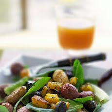 Warm Winter Salad with Roasted Banana Squash and New Potatoes
