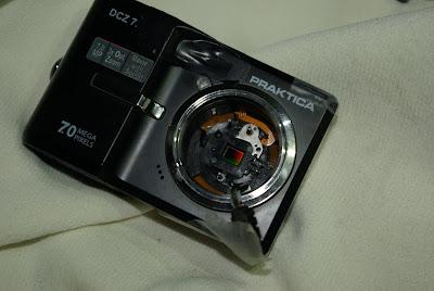 DC改裝接 C mount 電影鏡測試