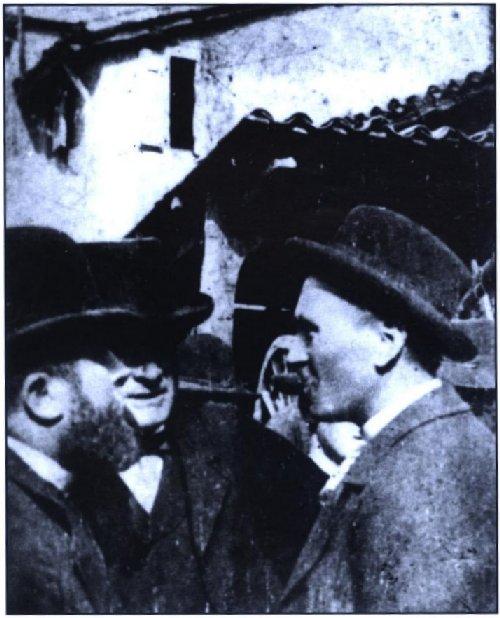 Rencontre entre Jean Jaurès,<br />Adrien Cros et Alban de Connac