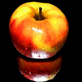 apple in the mirror by LADOCKi Elvira - Food & Drink Fruits & Vegetables ( apple )
