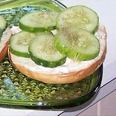 Nat's Cucumber Cream Cheese Bagel
