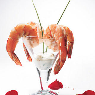Poached Shrimp with Lemon-Horseradish Dipping Sauce