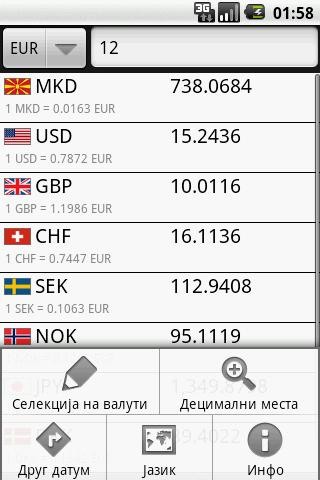 NBRM Exchange Rates