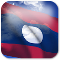3D Laos Flag icon