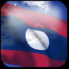 3D Laos Flag icon