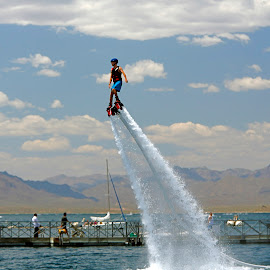 Hydro-Power IV by Randy Dannheim - Sports & Fitness Watersports ( water, lake pleasant, water sports, jet ski boots, extreme water sports, rocket boots, device, transportation )