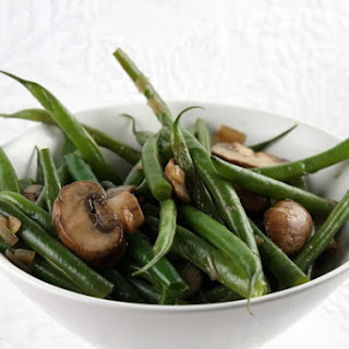 Green Beans with Mushrooms & Shallots
