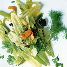 Sautéed Fennel with Almonds, Raisins, and Saffron
