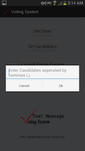 Text Message Voting System - screenshot