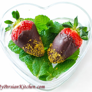 Chocolate & Pistachio Covered Strawberries