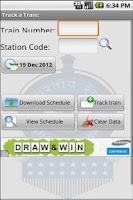 Screenshot of Indian Railway Train Alarm