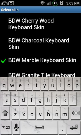 Marble Tile Keyboard Skin