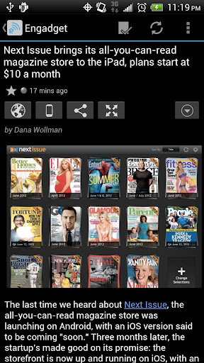 feedr-news-reader for android screenshot