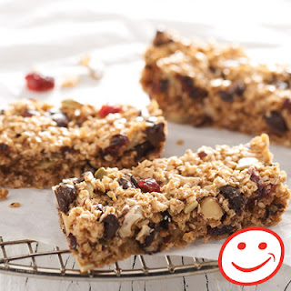 Chewy Cranberry-Nut Energy Bars