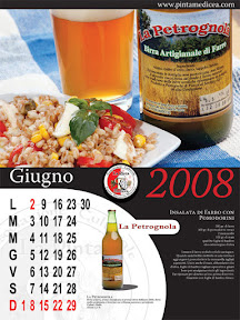 L'insalata di farro sulla pagina di Giugno del Calendario della Pinta medicea 2008