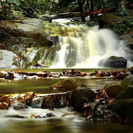 Gabai river water fall by Muhasrul Zubir - Landscapes Travel
